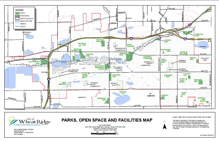 Parks Open Space and Facilities Map