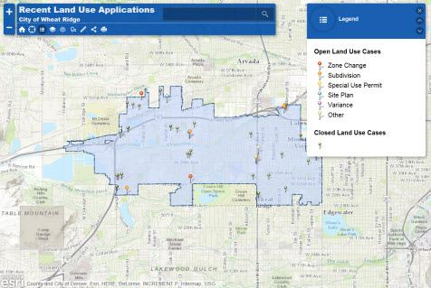 Land Use Applications Map
