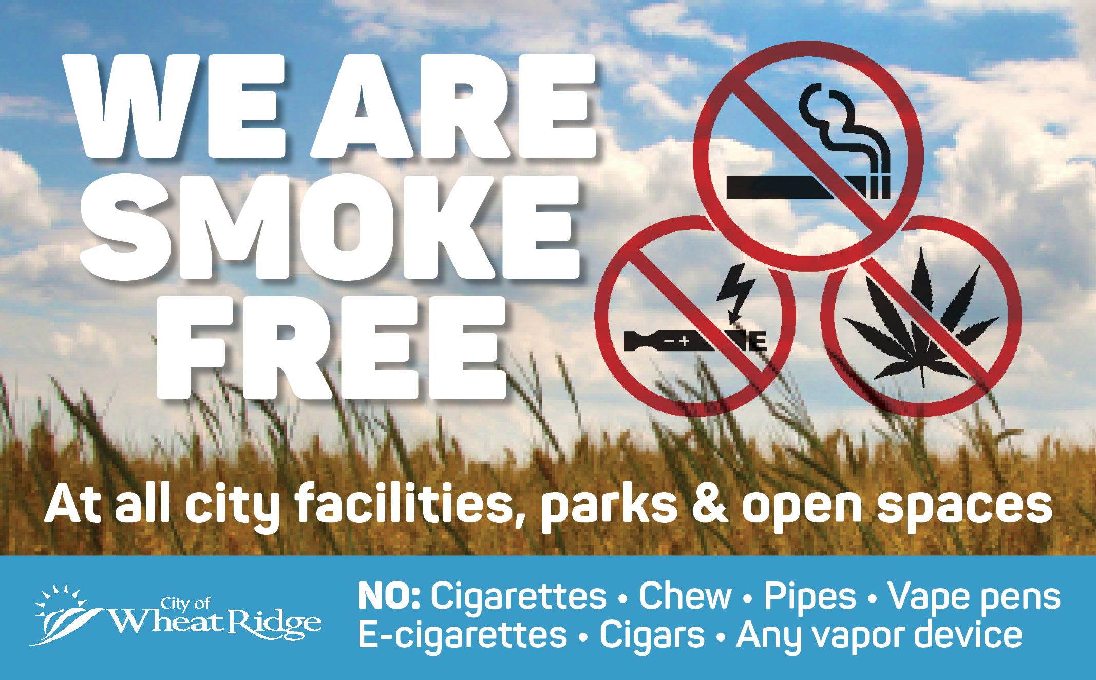 No Smoking at City facilities, parks and open spaces