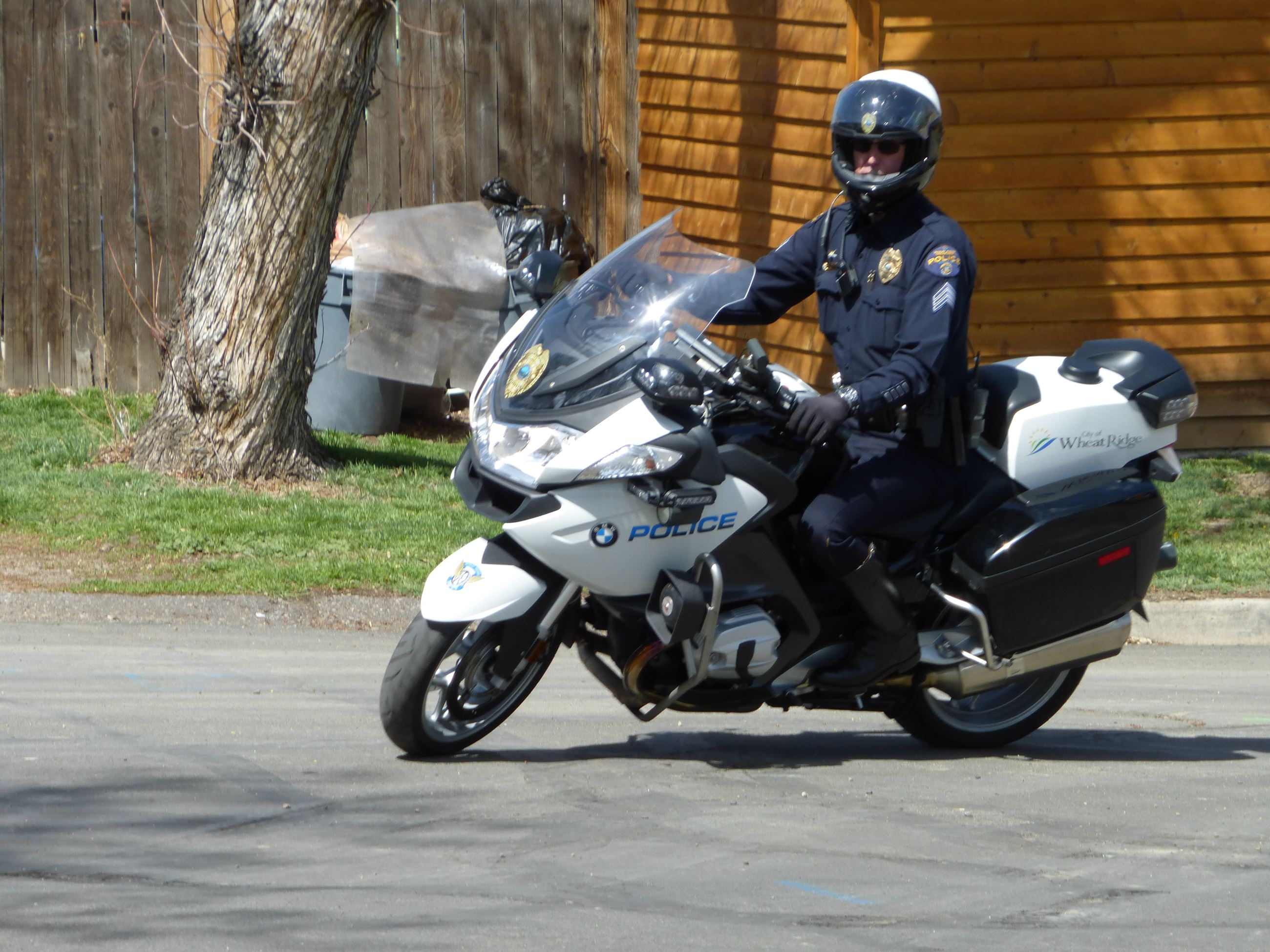 WRPD officer on motorcycle