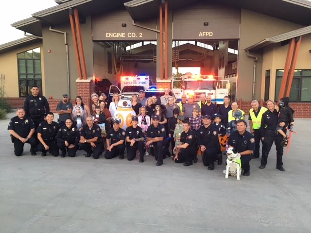 Halloween video volunteers and Firefighters