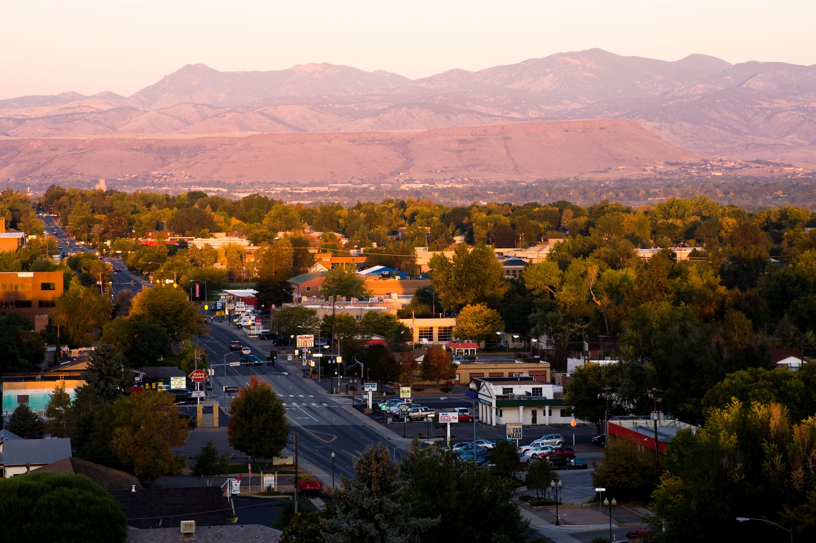 City of Wheat Ridge View of the Mountains