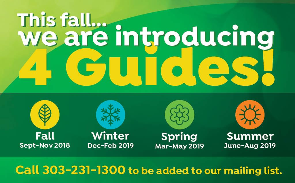 Introducing 4 seasonal Parks & Recreation Guides beginning this fall.