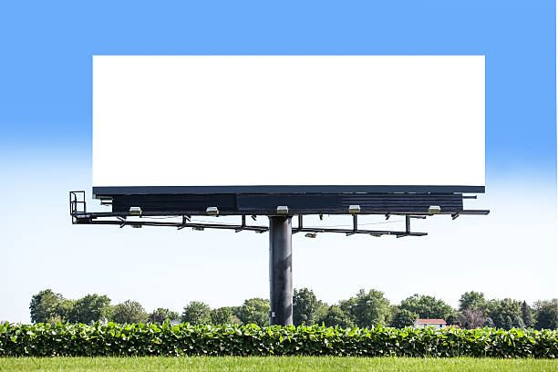 Picture of a blank billboard sign