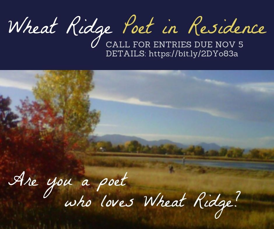 Call for Poet In Residence with photo of Wheat Ridge
