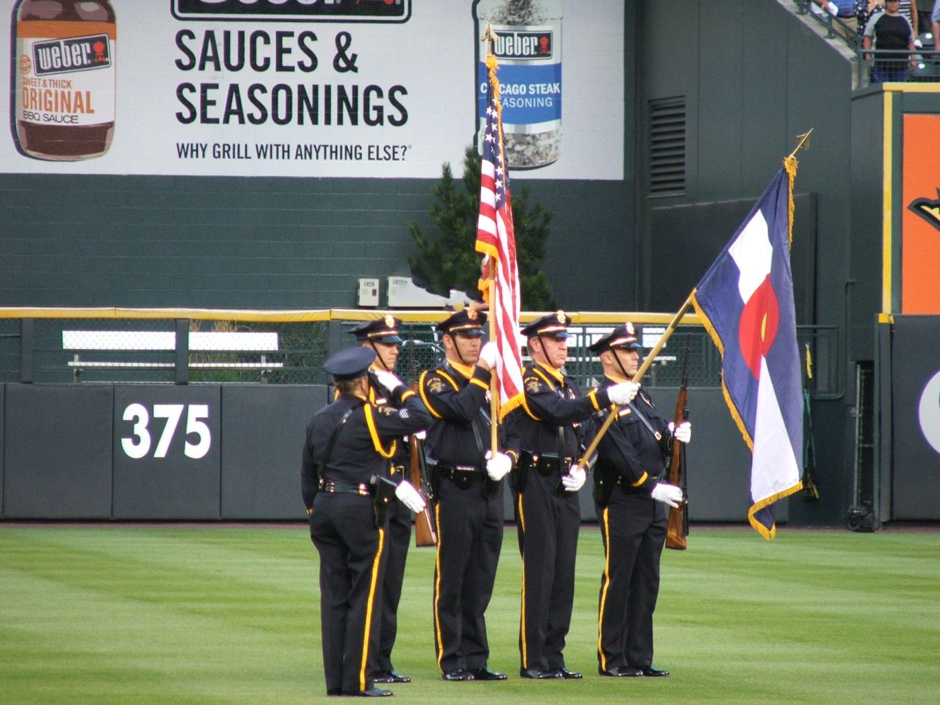 WRPD Honor Guard at the Colorado Rockies